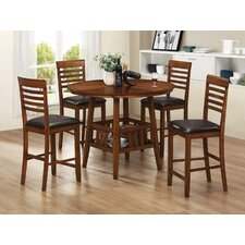 <strong>Wildon Home ®</strong> Savanah 5 Piece Counter Height Dining Set