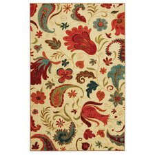 <strong>Wildon Home ®</strong> Yellow Tropical Acres Rug