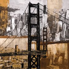 <strong>Wildon Home ®</strong> Golden Gate City Wall Art