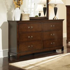 <strong>Wildon Home ®</strong> Tiffany 6 Drawer Dresser