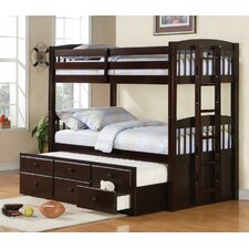 <strong>Wildon Home ®</strong> Chester Twin Bunk Bed with Ladder