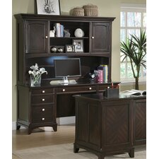 <strong>Wildon Home ®</strong> Doyle Credenza Desk with Hutch