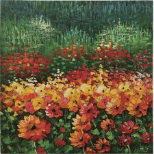 Field of Flowers Oil Painting Art
