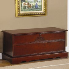 <strong>Wildon Home ®</strong> Cherry Cedar Chest with Locking Lid