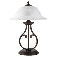 <strong>Wildon Home ®</strong> Table Lamp with Glass Shade