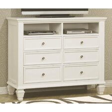 <strong>Wildon Home ®</strong> Glenmore 6 Drawer Media Chest