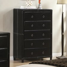 Retro 5 Drawer Chest