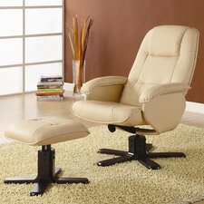 <strong>Wildon Home ®</strong> Stanton Leisure Vinyl Chair and Ottoman