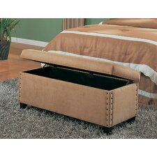 <strong>Wildon Home ®</strong> Brighton Microfiber Bedroom Storage Bench