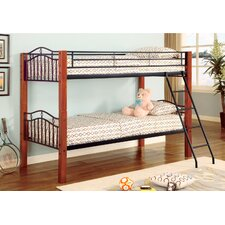 <strong>Wildon Home ®</strong> Elk City Twin over Twin Wood and Metal Bunk Bed