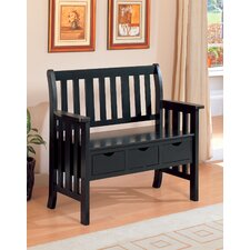 Whiteson Wooden Entryway Storage Bench