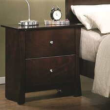 <strong>Wildon Home ®</strong> Milano 2 Drawer Nightstand