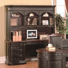 Kahlua Credenza Desk with Hutch