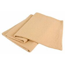 <strong>Wildon Home ®</strong> Grand Hotel All-Natural 100-Percent Cotton Basket Woven Blanket