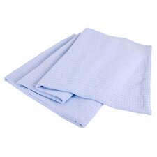 Grand Hotel All-Natural 100-Percent Cotton Basket Woven Blanket