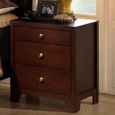 Weber 3 Drawer Nightstand