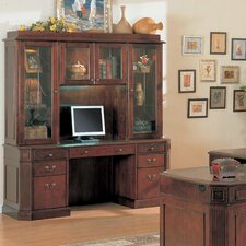 Youngtown Credenza Desk with Hutch