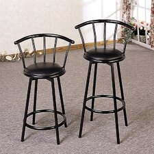 "Oro Valley 29"" Barstool in Satin Black"