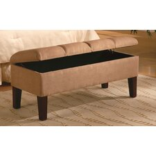 <strong>Wildon Home ®</strong> Bridal Veil Microfiber Bedroom Storage Ottoman