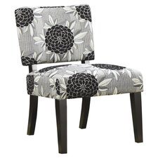 Toyah Flower Print Fabric Slipper Chair