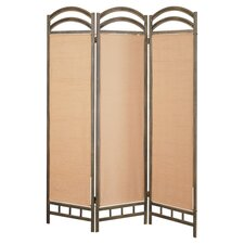 "<strong>Wildon Home ®</strong> 72"" x 56"" Oakville Folding 3 Panel Room Divider"