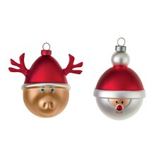 2 Piece Babbarenna E Babbonatale Christmas Tree Ornament Set (Set of 2)