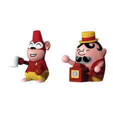 Jimmy Melody and Monkey Money Figurines (Set of 2)
