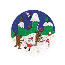 Happy Snowtime Panettone Serving Plate