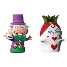 2 Piece Holiday Hatter and Queen Hearts Figurine Set