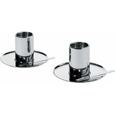 Nouvel Mocha Cup and Saucer (Set of 2)