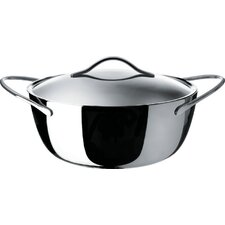 Domenica Stainless Steel Round Casserole