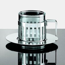 <strong>Alessi</strong> Aldo Rossi 4.2 oz. Mocha Cups with Saucer