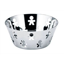 "<strong>Alessi</strong> Girotondo Round Basket by King Kong - 8.1"" Diameter"