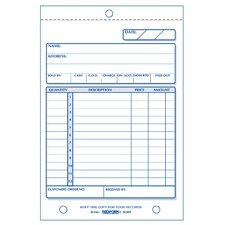 "<strong>Rediform-Blueline</strong> 4-1/4"" x 6-3/8"" Carbonless Triplicate Sales Book"