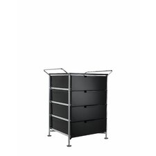 "Mobil 26.38"" (On Wheels) with Handles 4 Drawers with Feet"