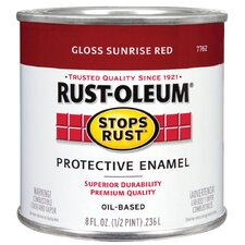 1/2 Pint Oil Based Stops Rust Protective Enamel