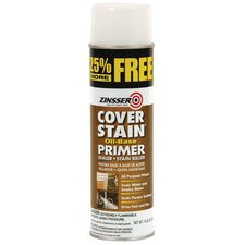 Flat White Cover Stain Oil-Base Primer Sealer Spray