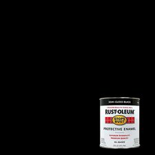 1 Quart Semi Gloss Black Protective Enamel Oil Base Paint 7798-502