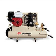 8 Gallon 5.5 HP Gas Powered Wheelbarrow Twin-Tank Air Compressor