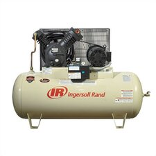 120 Gallon 175 PSI, 35 CFM, 10.0 HP Fully Packaged Type 30 Electric Two Stage Horizontal Air Compressor