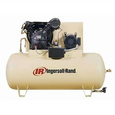 120 Gallon 175 PSI, 50 CFM, 15 HP Fully Packaged Two Stage Horizontal Air Compressor