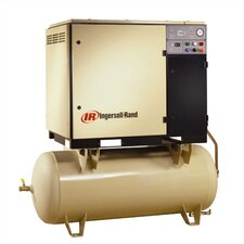 120 Gallon, 125 PSI, 125 CFM Rotary Screw Air Compressor with Integral Air Dryer