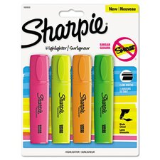 <strong>Sharpie</strong> Blade Tip Highlighter (4 Pack)