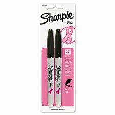 Pink Ribbon Bullet Tip Permanent Marker (2 Pack)