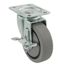 """4"""" Swivel Plate Caster with Brake"""