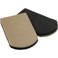 "<strong>Shepherd</strong> 4 Count 4"" x 7"" Heavy Duty Felt Gard Slider Pad"
