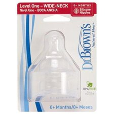 Wide Neck Baby Bottle Nipple 2 Pack