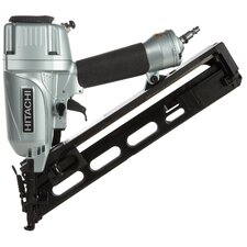 "<strong>Hitachi</strong> 2-1/2"" 15 Gauge Angled Finish Nailer With Air Duster NT65MA"