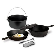 Cast Iron Pre-Seasoned Cook Set