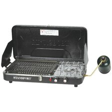 <strong>Stansport</strong> Combo-Piezo Igniter Propane Stove and Grill